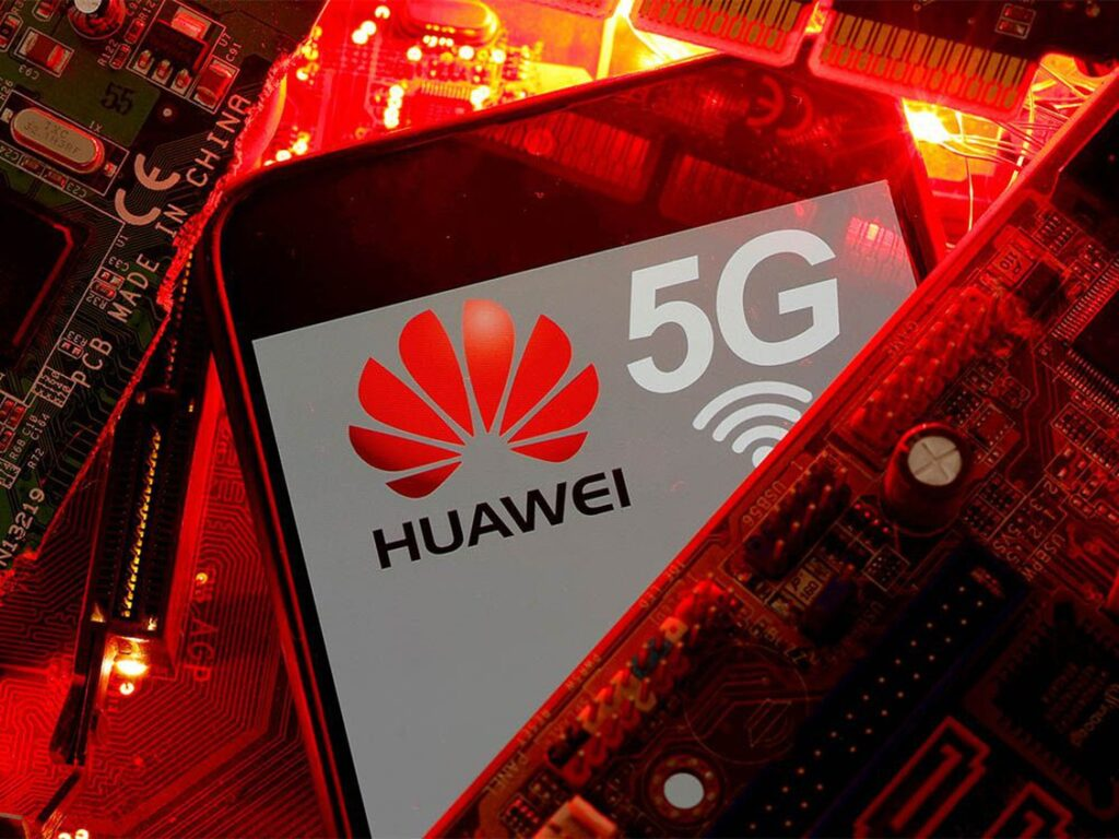 FILE PHOTO: A smartphone with the Huawei and 5G network logo is seen on a PC motherboard in this illustration picture taken January 29, 2020. PHOTO BY REUTERS/DADO RUVIC